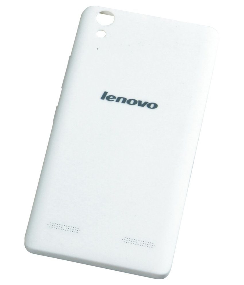 sports shoes 0c21a e665b Sec Back Panel Cover For Lenovo A6000 Plus-white