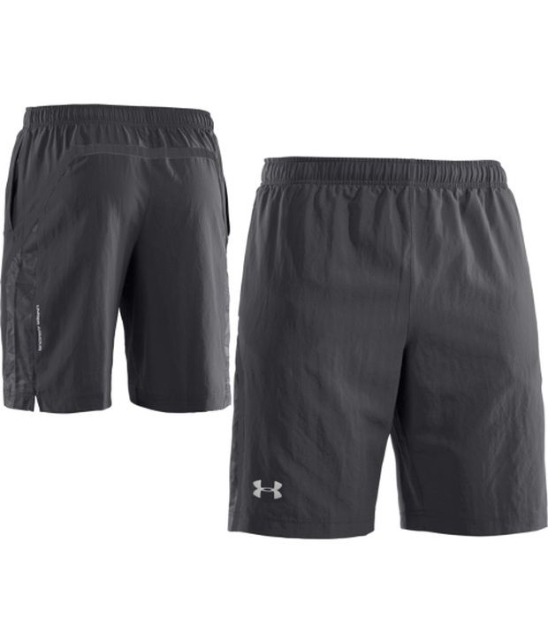Under Armour Under Armour Grey Mens Escape Woven Running Shorts (pack Of 2)