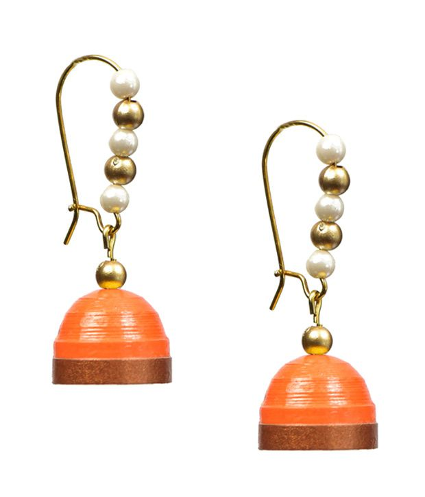 Rivory Bros Orange Earrings