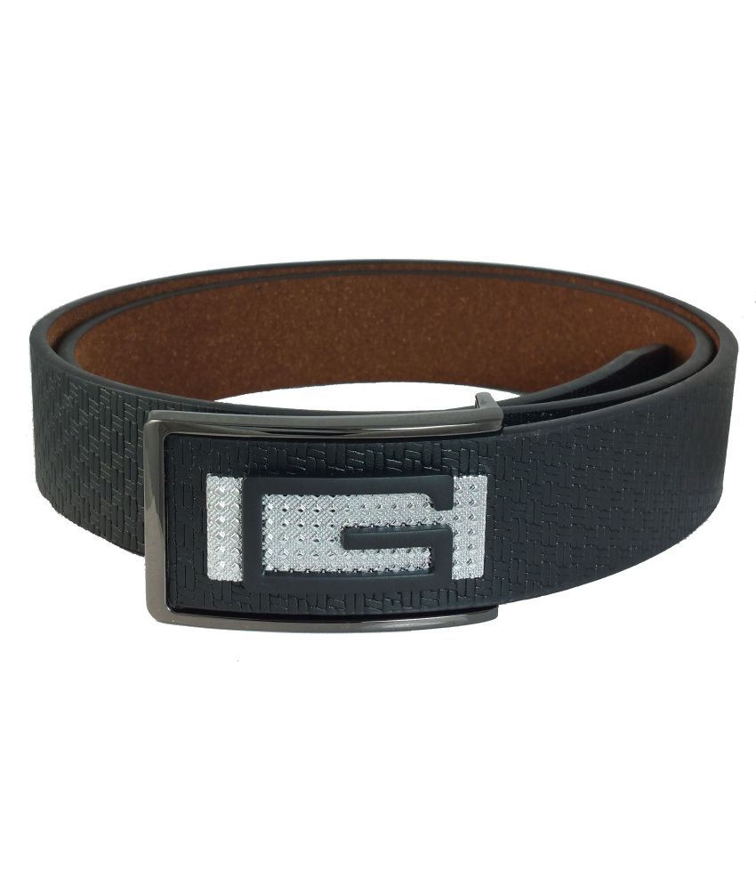 Ammvi Creations Black Non Leather Belt For Men