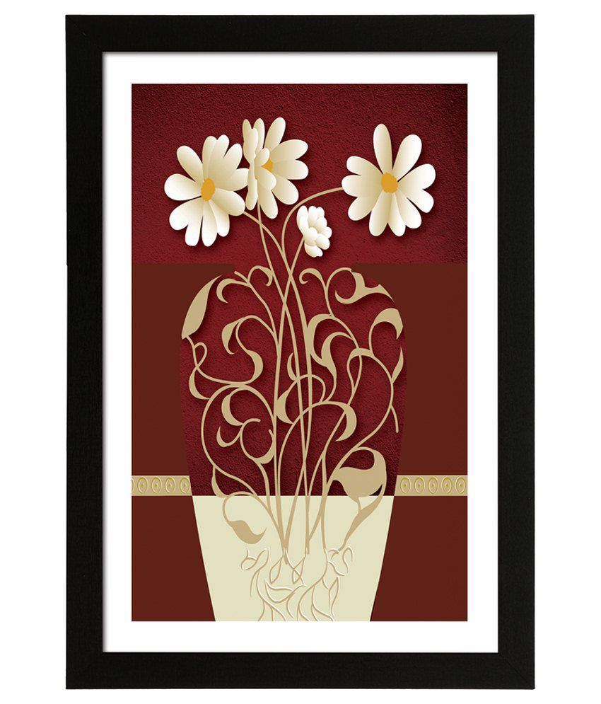 Delight Wooden Daisy Flower Vector Digital Printed Uv Photo Frame