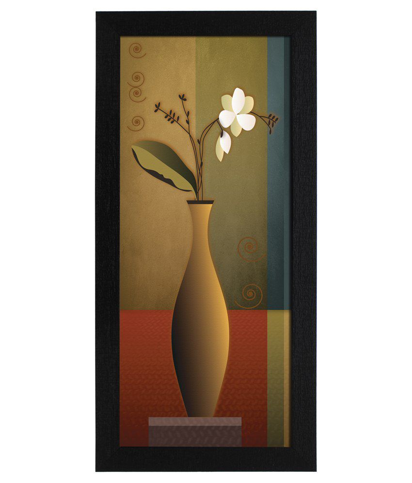 Delight Wooden Jasmin Flower Digital Printed Uv Photo Frame