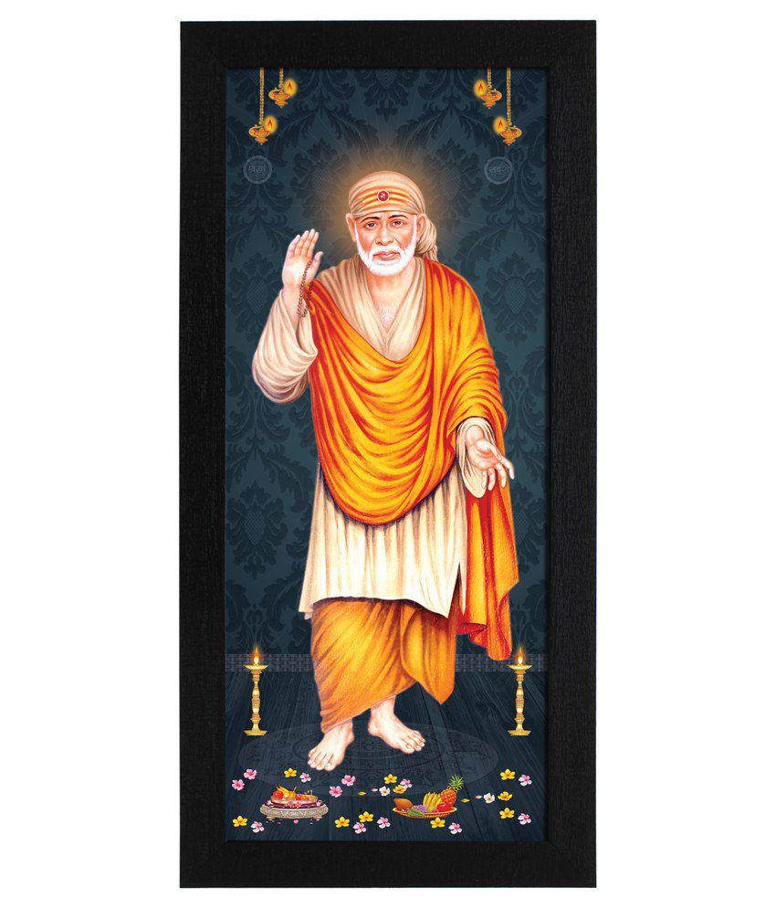 Delight Wooden Sainath Digital Printed Uv Photo Frame