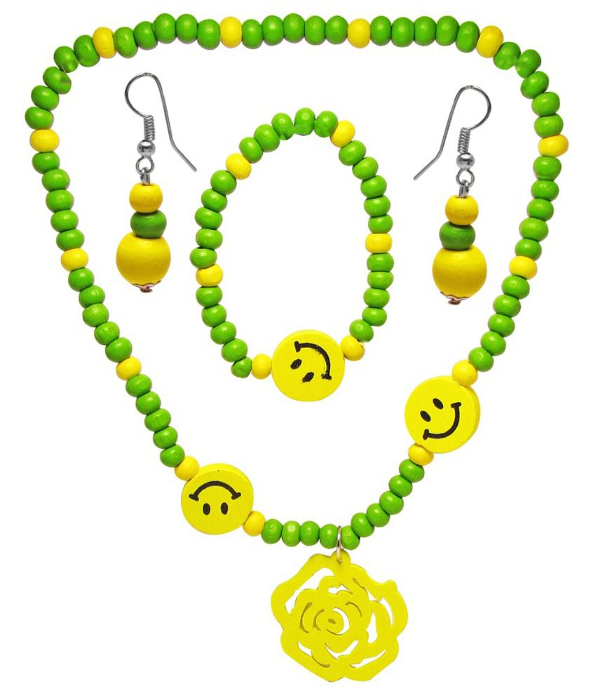 Jewelz Green Antique Necklace Set