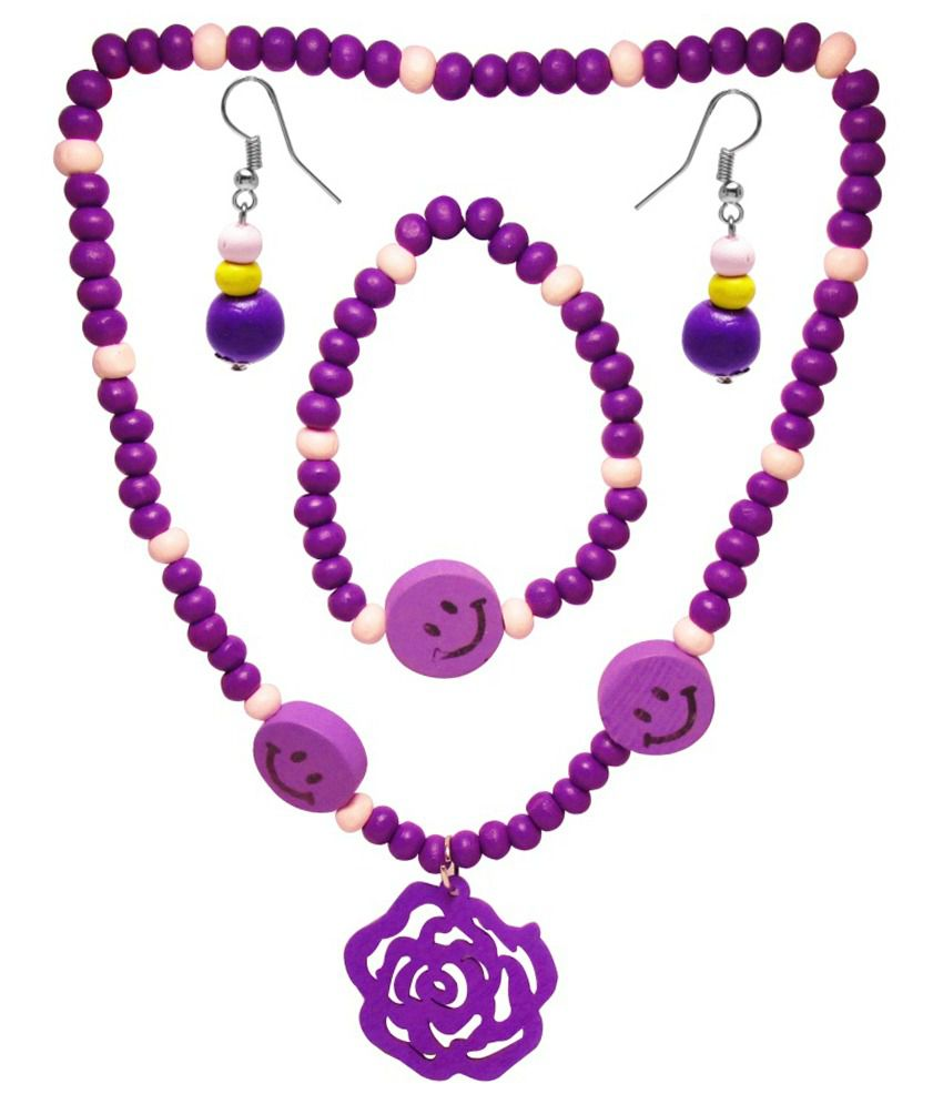 Jewelz Purple Antique Necklace Set