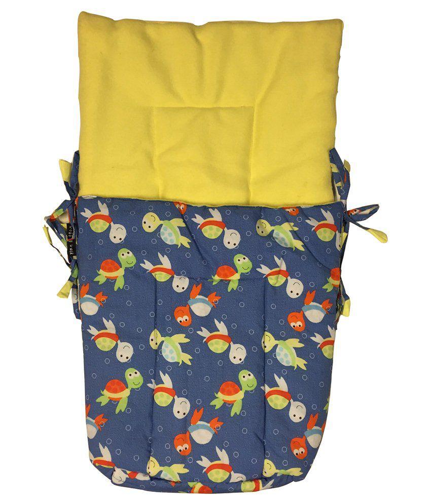 Wobbly Walk Blue & Yellow Jaipuria Baby Sleeping Bag With Fleece