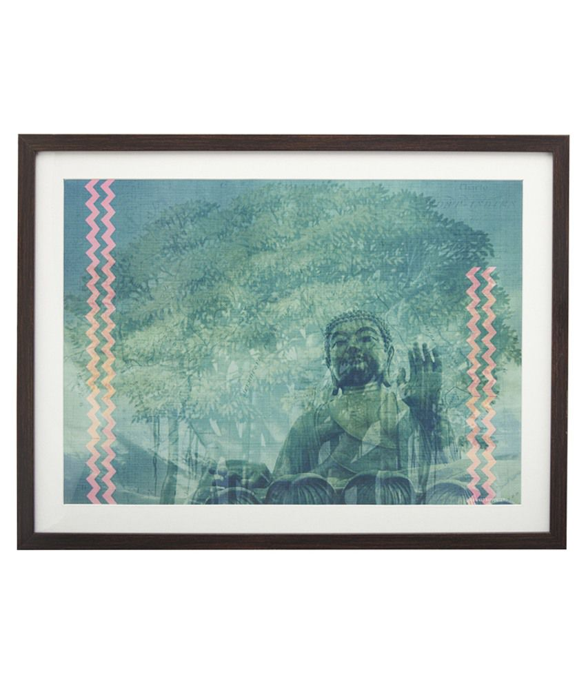 Look What Happen Buddha Painting With Frame