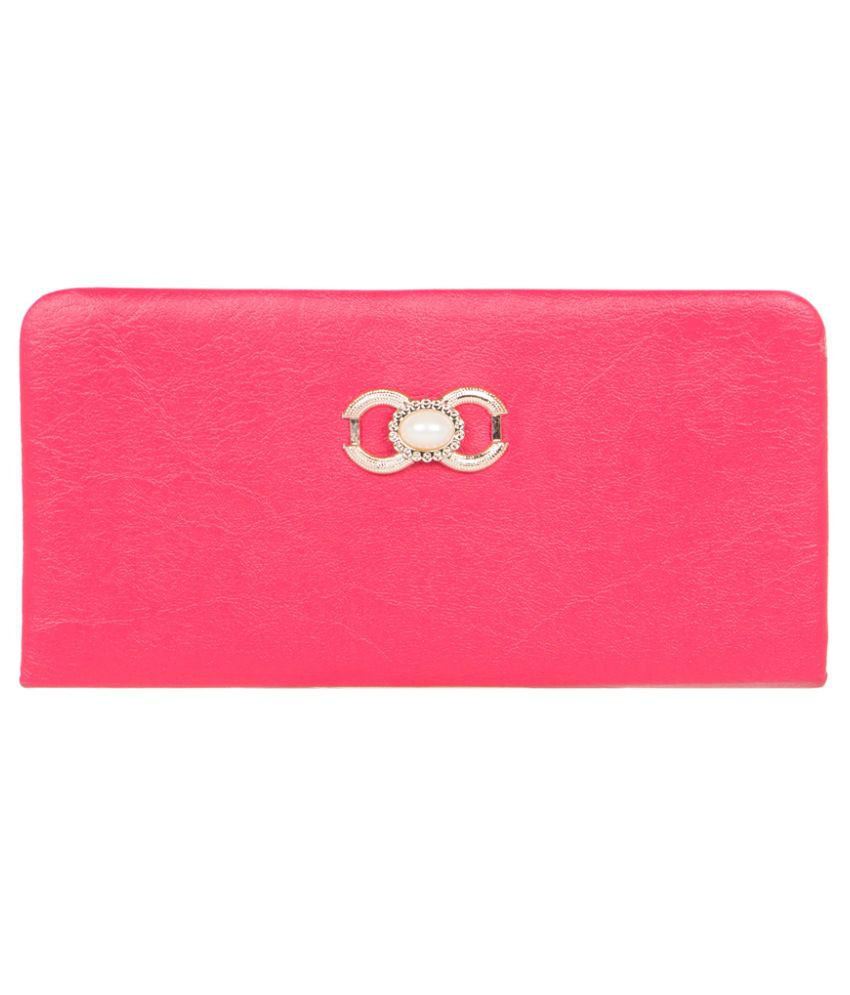 Mte Pink Non Leather Clutch