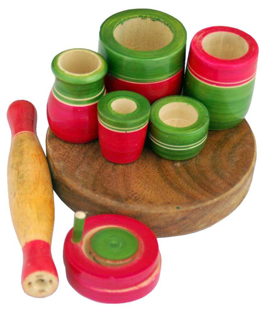 Villcart Wooden Toy Kitchen Set Buy Villcart Wooden Toy Kitchen