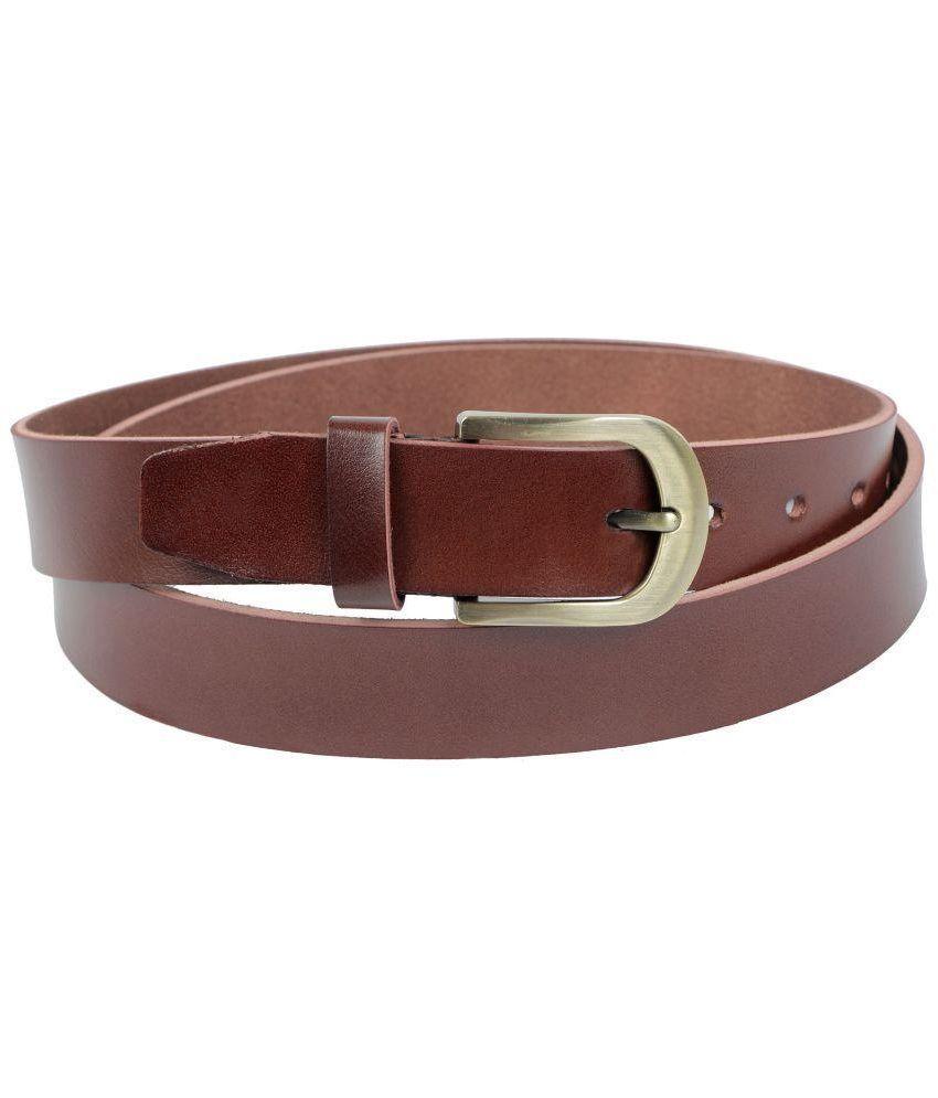 Bonjour Brown Leather Belt