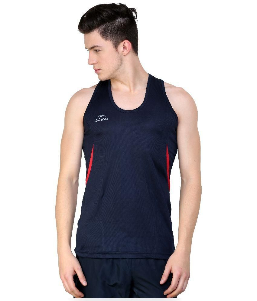 Dida Navy Blue Polyester Sports Wear