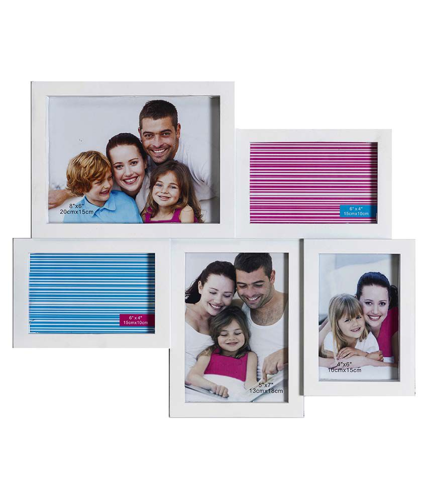 Opaleena Soothing White Collage Photo Frame