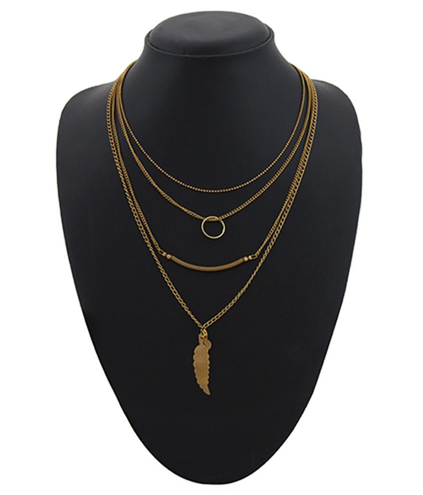 Zaraa Golden Alloy Necklace