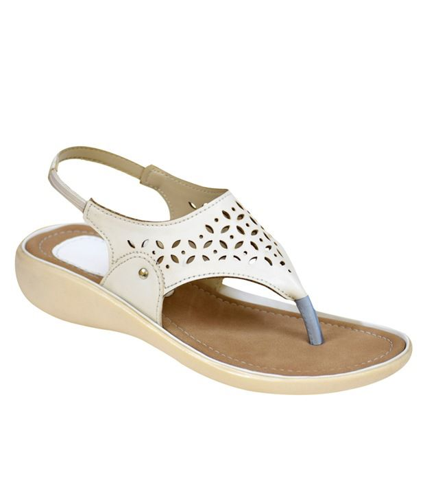 Apick White Heeled Sandals