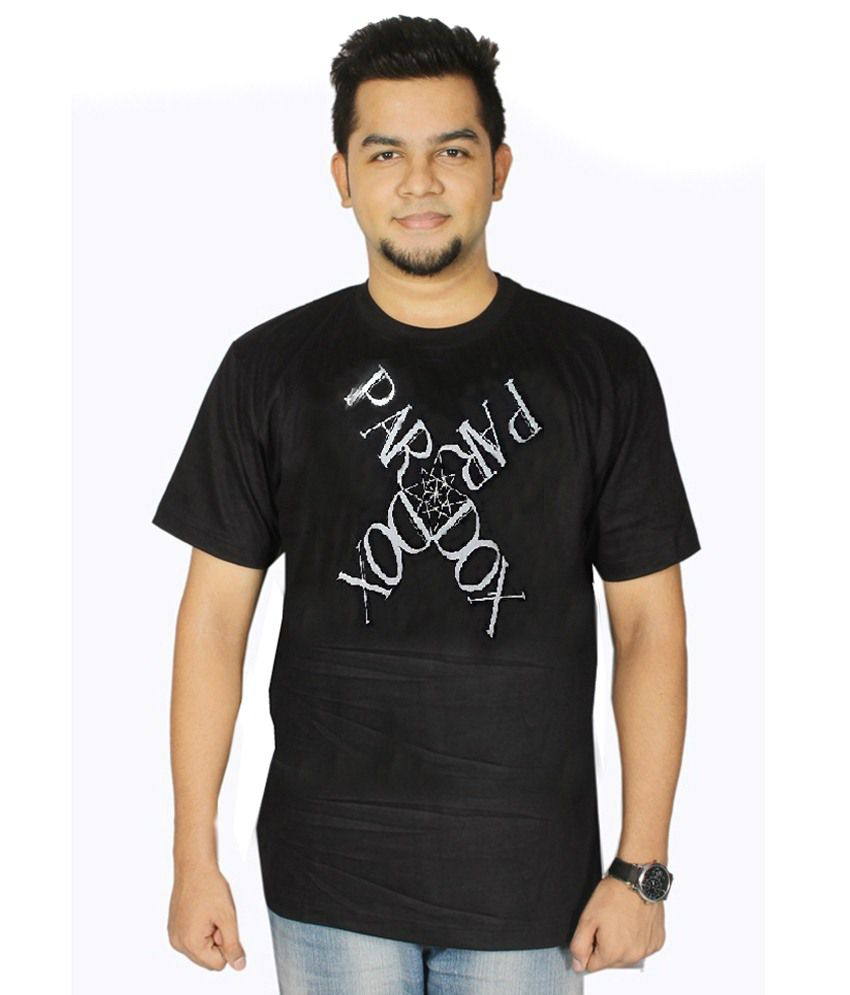Dnt Enterprises Black Cotton T-shirt