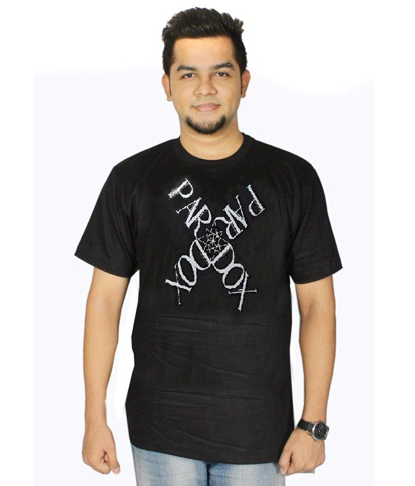 Dnt Enterprises Black Cotton T-shirt Pack Of 9