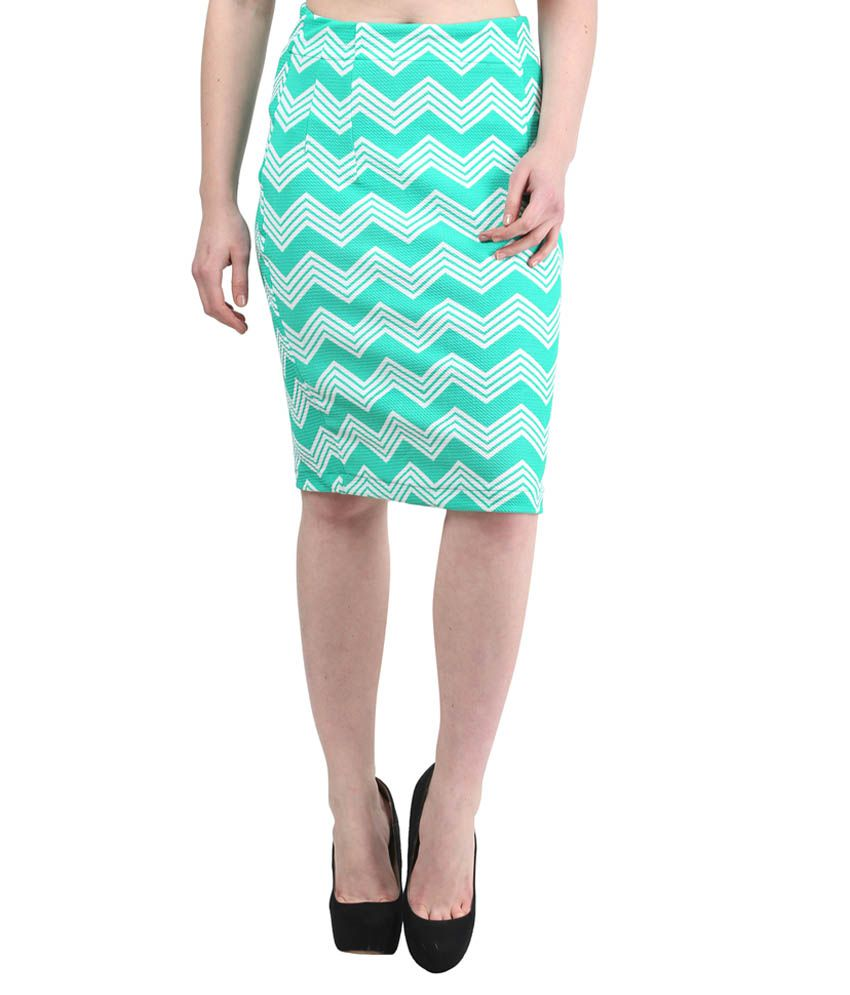 0ff5ed2b91ca Mayra Turquoise Poly Cotton Bodycon Skirts available at SnapDeal for Rs.478