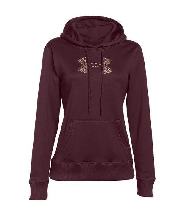 Under Armour Brown Women's Storm Armour Fleece Stud Big Logo Hoodie