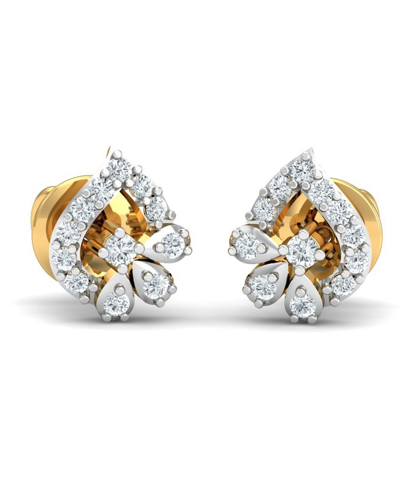 Khya Jewels 18kt Gold Designer Diamond Stud Earrings Online In India On Snapdeal