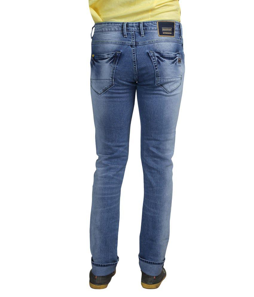 c0f58819 Nostrum Jeans Blue Slim Fit Jeans - Buy Nostrum Jeans Blue Slim Fit ...