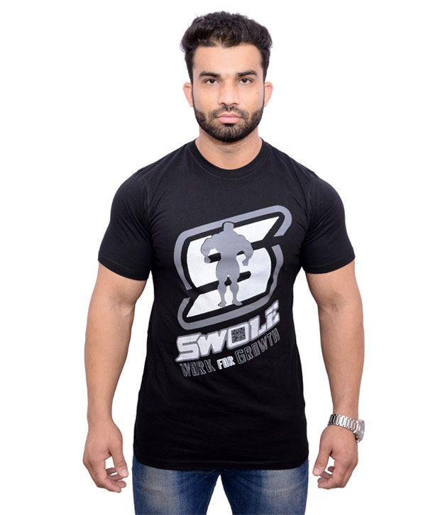Barbell & Squats Black Cotton T-Shirt