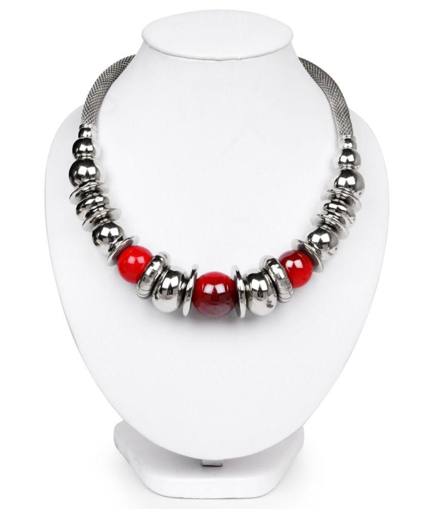 Johareez Silver Brass Necklace