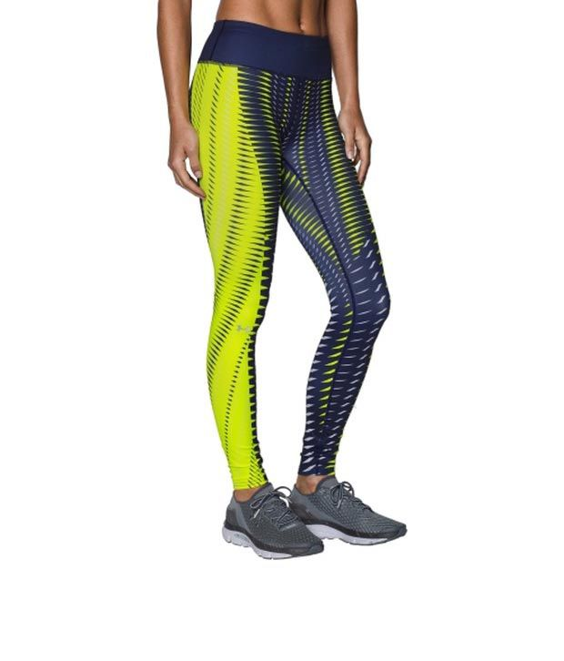 Under Armour Under Armour Women's Fly-by Engineered Printed Leggings Blue Knight/flash Light