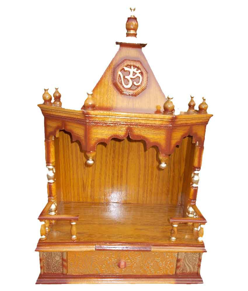 vishwakarma brown furniture wooden temple buy vishwakarma brown rh snapdeal com