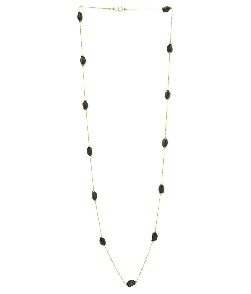 Uptown Black Alloy Necklace