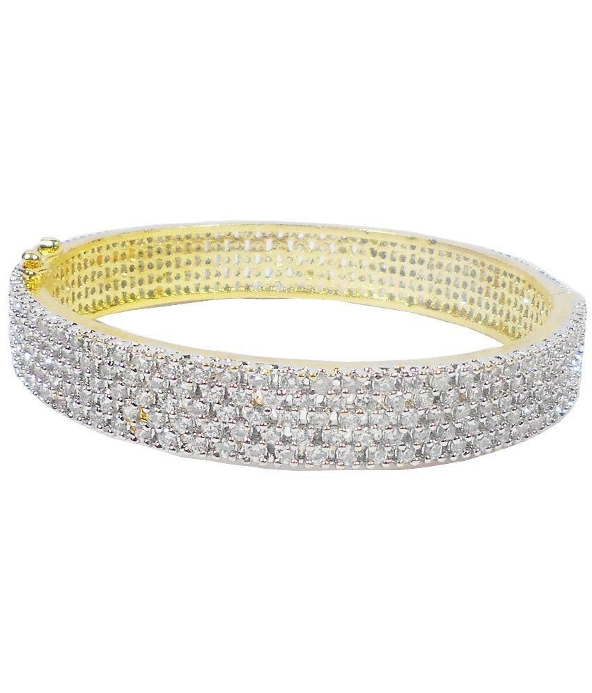 Rejewel Silver Brass Kada