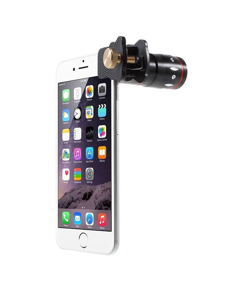 Universal 4 in 1 Mobile Camera Lens for Smartphone with Macro, Wide Angel, Fish Eye & 10X Zoom
