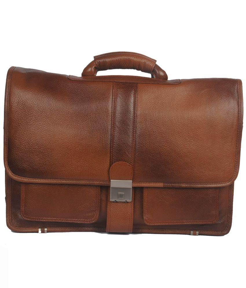 Bag Jack Deneb Brown Leather Office Messenger Bag