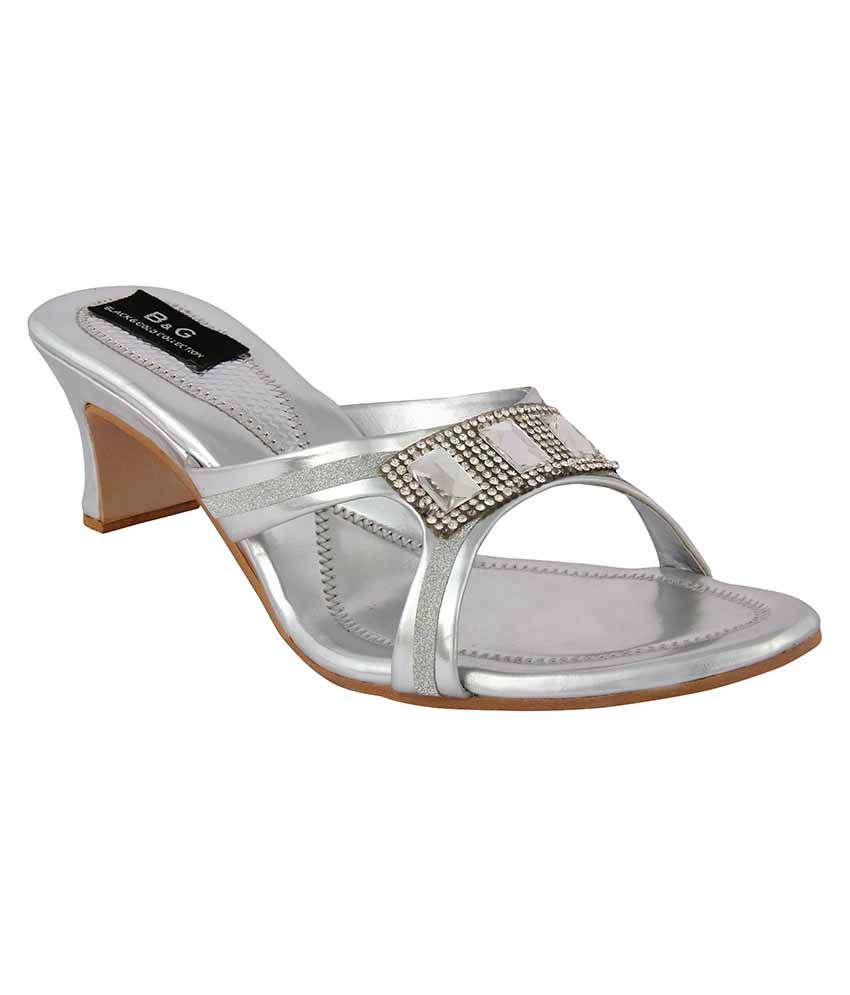 Jewel Silver Heels