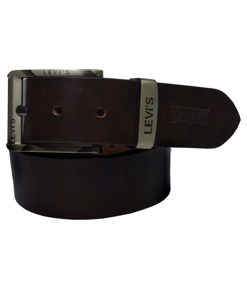 9496224ee Levi s Brown Leather Belt  Buy Online at Low Price in India - Snapdeal