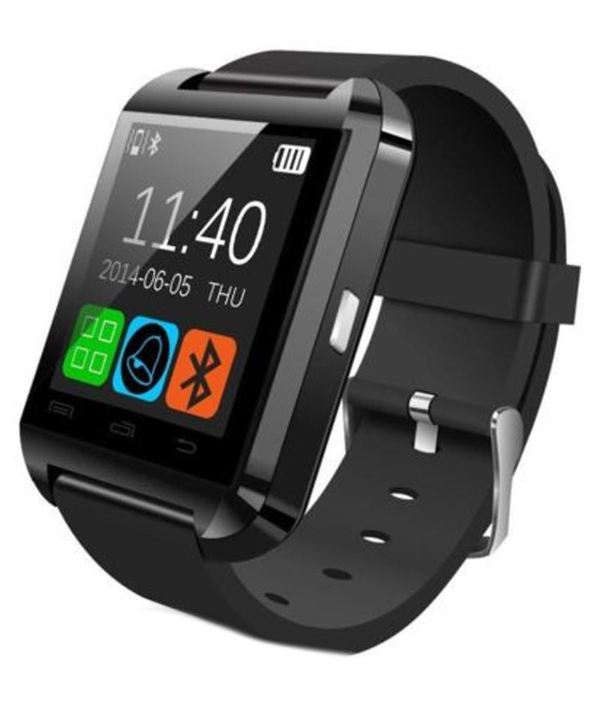9be69a053f4 U8 Black Smart Watch Bluetooth Smart Watch Android Smart Watch With Remote  Camera - Wearable   Smartwatches Online at Low Prices