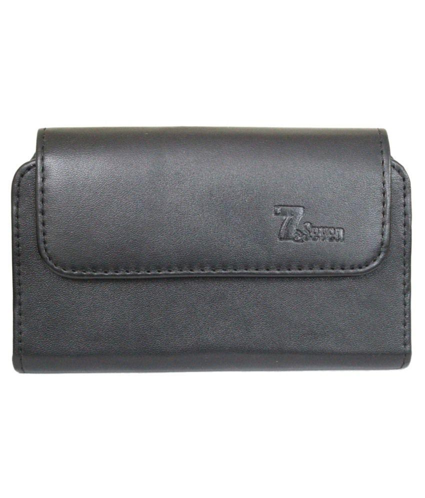 Jo Jo Mobile Pouch Cover For Infocus M808 - Black