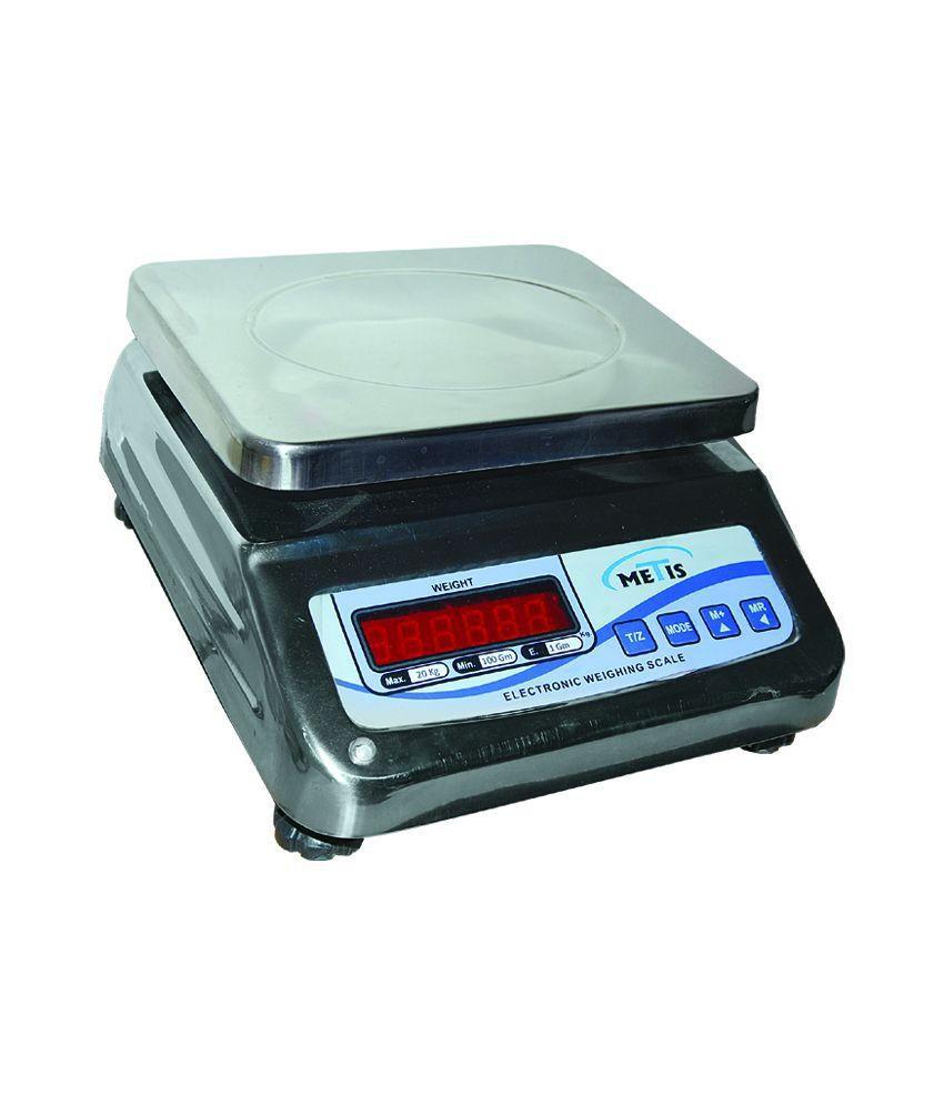 Metis Stainless Steel 10 Kg Counter Weighing Scale: Buy Metis ...