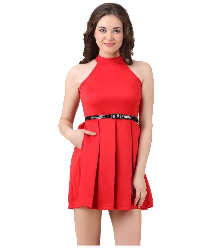 Texco Cotton Red Dresses