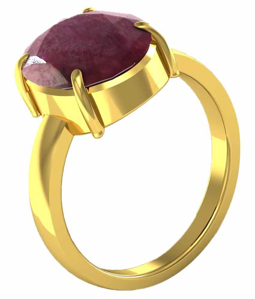 Kiara 92.5 Sterling Silver 5.25 Ratti Ruby Ring