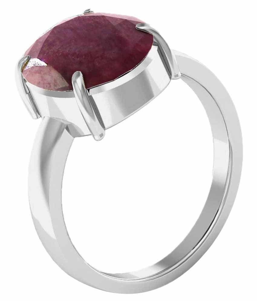 Kiara 92.5 Sterling Silver 9.25 Ratti Ruby Ring