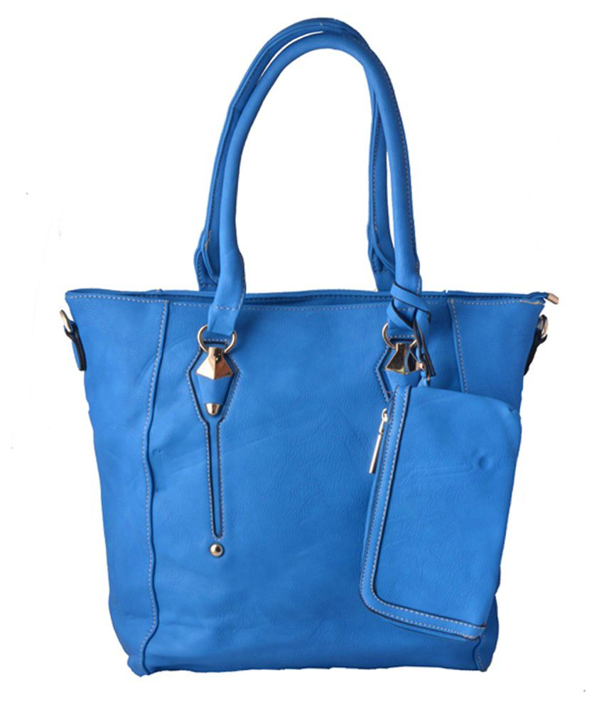 Naaz Collection Blue Pu Shoulder Bags