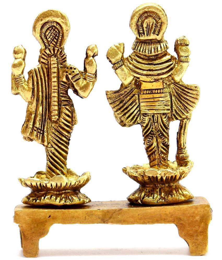 7f0aa431b77 Craftcart Lakshmi Narayan (Laxmi Vishnu) Brass Idol (statue)  Buy ...