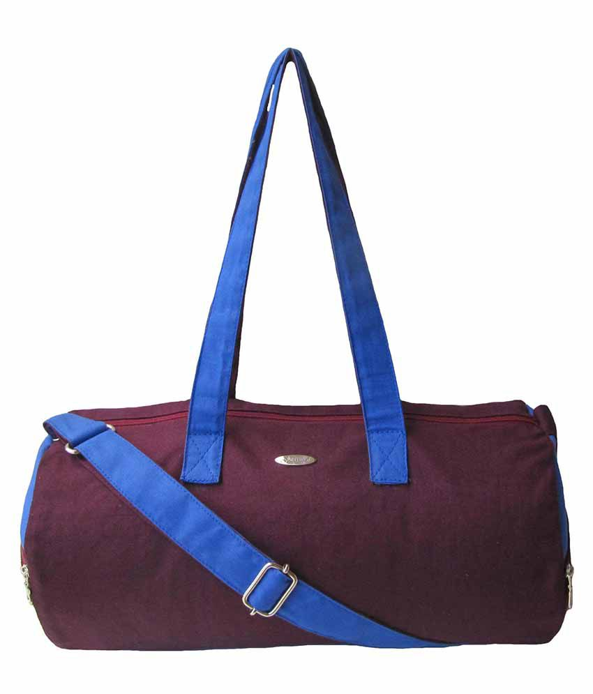 Jutecentral Maroon And Royal Blue / Gym Bag