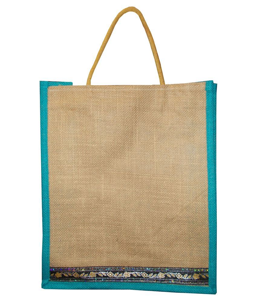 Squee Beige Small Jute Hand Bag