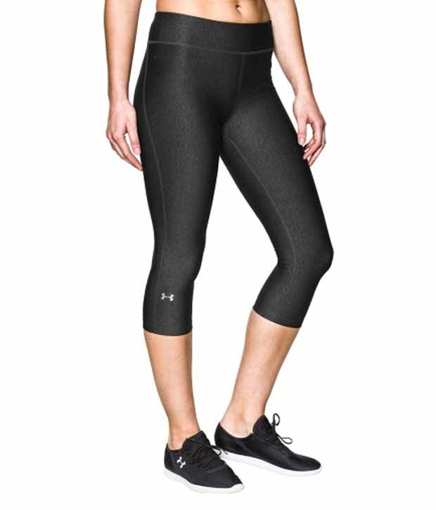 Under Armour Under Armour Black Womens Heat Gear Alpha Three Fourth