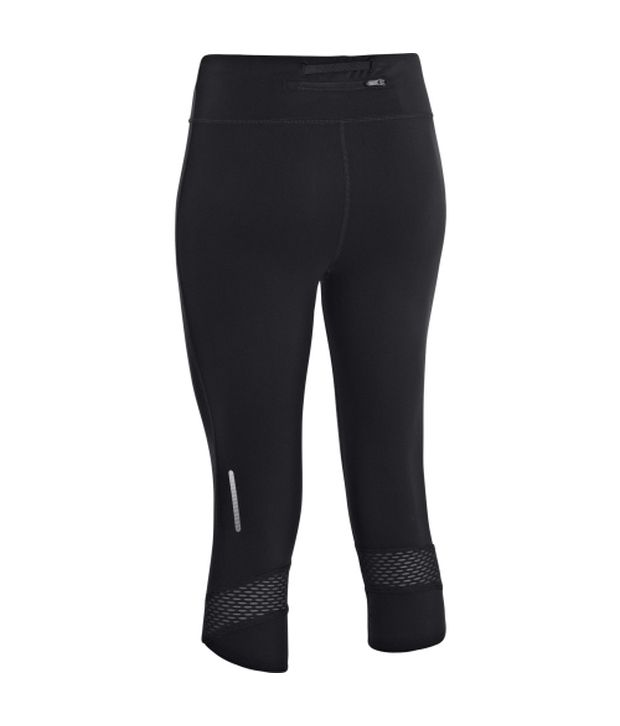 Under Armour Under Armour Black And Blue Womens Ua Fly-by Compression Three Fourth (pack Of 2)