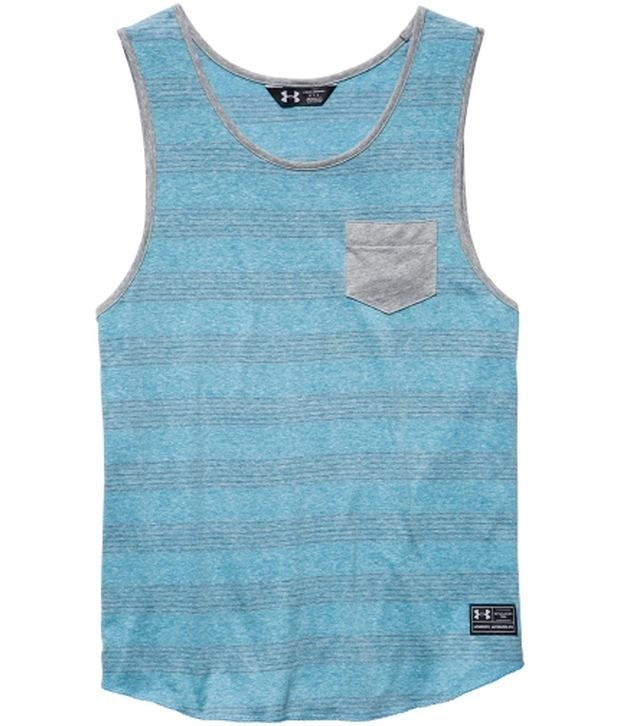 Under Armour Under Armour Blue Mens Paxton Tank