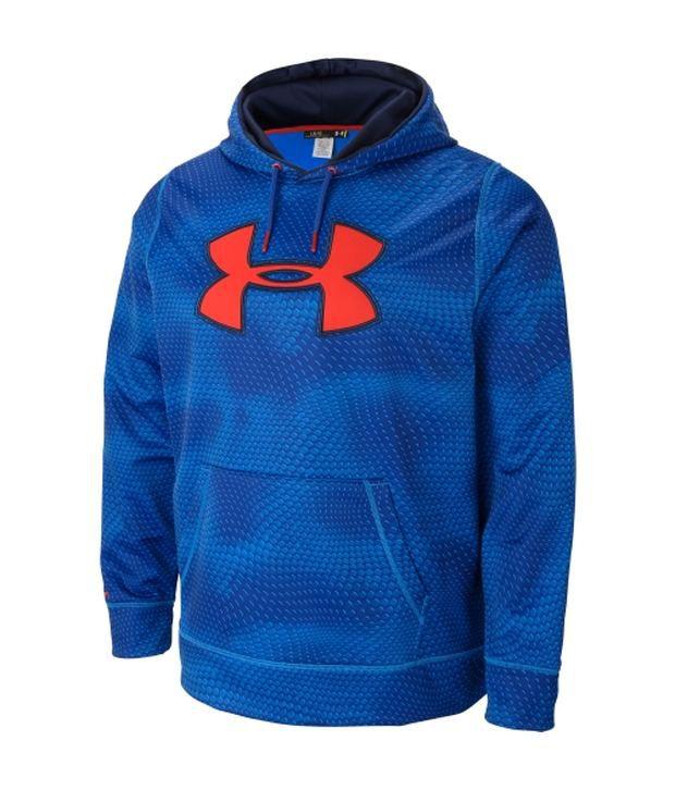 Under Armour Under Armour Blue Mens Fleece Storm Rattle Big Logo Sweatshirt