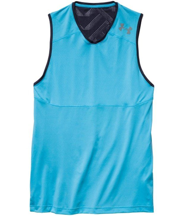 Under Armour Under Armour Blue Mens Undeniable Basketball Sleeveless Tank