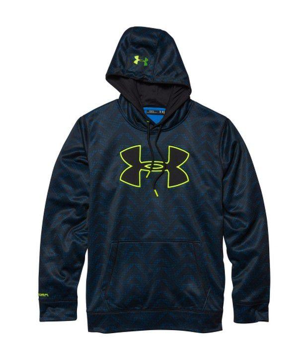 Under Armour Under Armour Navy Mens Storm Armour Fleece Big Logo Printed Sweatshirt
